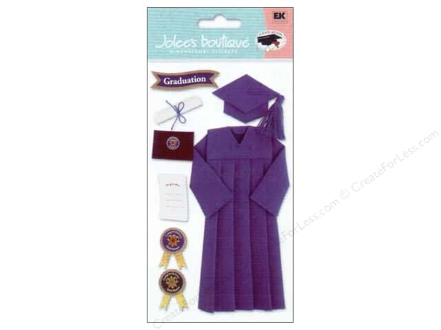 Jolee's Boutique Stickers Graduation Cap & Gown Blue