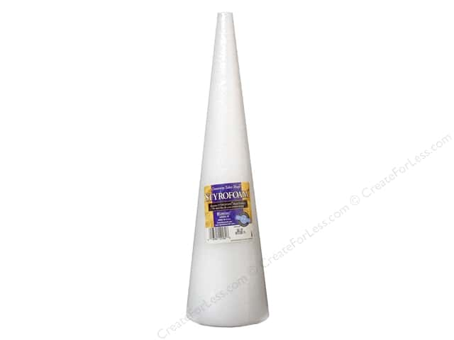 FloraCraft Styrofoam Cone 15 x 3 7/8 White 1 pc.