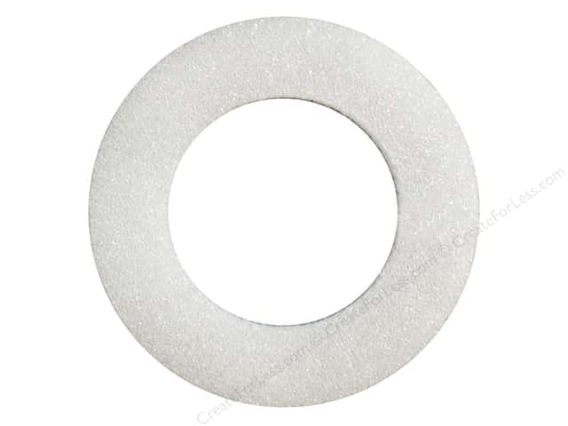 FloraCraft Styrofoam Wreath Flat Ring 6 x 1 1/4 x 5/8 in. White (3 pieces)
