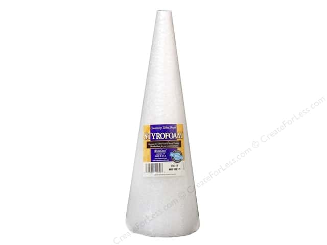 FloraCraft Styrofoam Cone 12 x 3 7/8 in. White 1 pc.