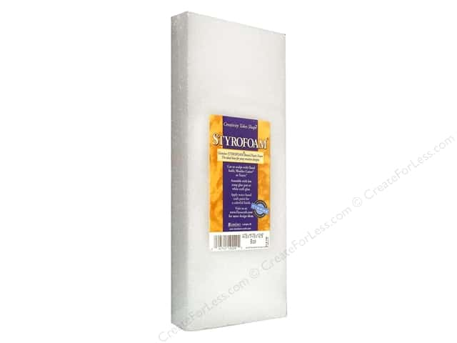 FloraCraft Styrofoam Block - 4 7/8 x 11 7/8 x 1 3/16 in. White 1 pc.