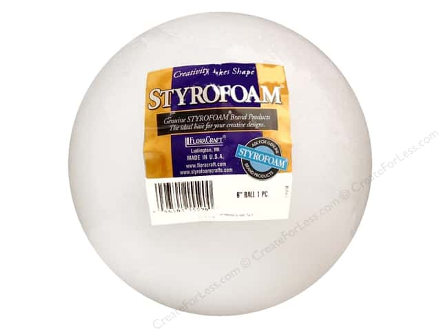 FloraCraft Styrofoam Ball 6 in. White 1 pc.