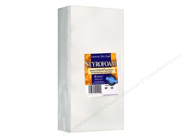 FloraCraft Styrofoam Block 8 x 4 x 2 in. White 1 pc.