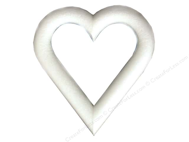 FloraCraft Extruded Styrofoam Heart 9 x 1 in.