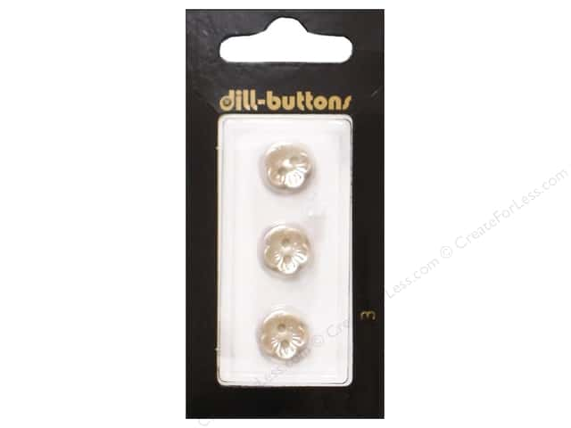 Dill 2 Hole Buttons 7/16 in. Pearl White #3 3pc.