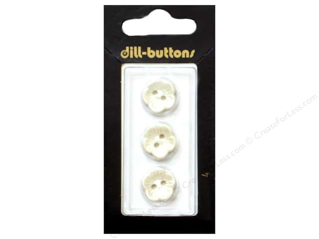 Dill 2 Hole Buttons 9/16 in. Pearl White #4 3pc.