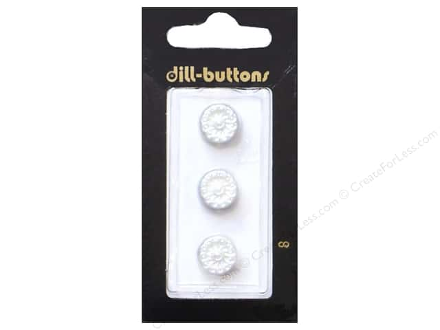 Dill Shank Buttons 7/16 in. Pearl White #8 3pc.
