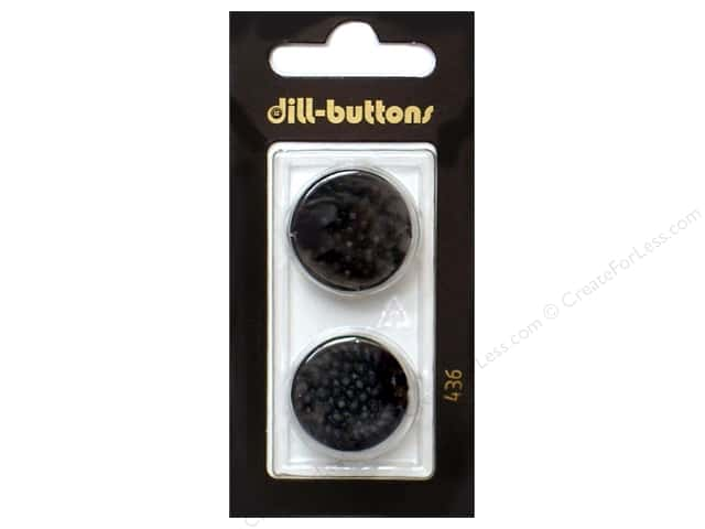 Dill Shank Buttons 7/8 in. Black #436 2pc.