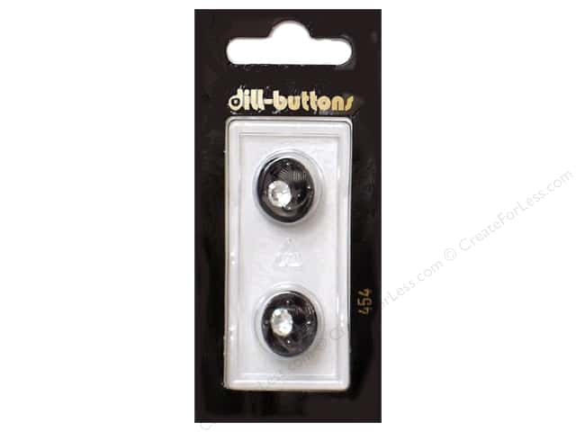 Dill Shank Buttons 5/8 in. Black #454 2pc.