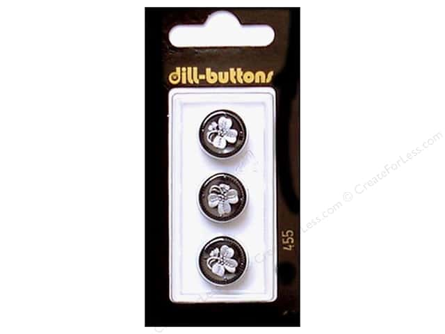 Dill Shank Buttons 9/16 in. Black #455 3pc.