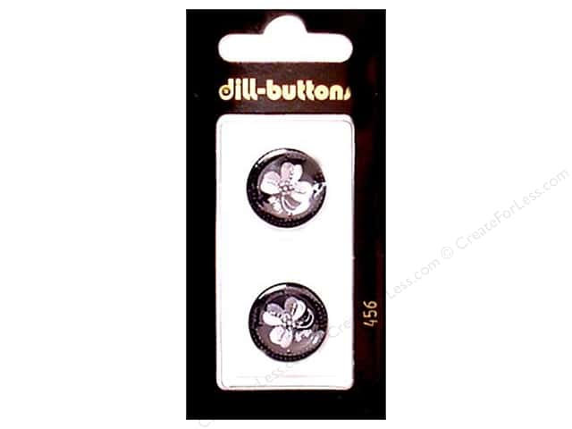 Dill Shank Buttons 11/16 in. Black #456 2pc.