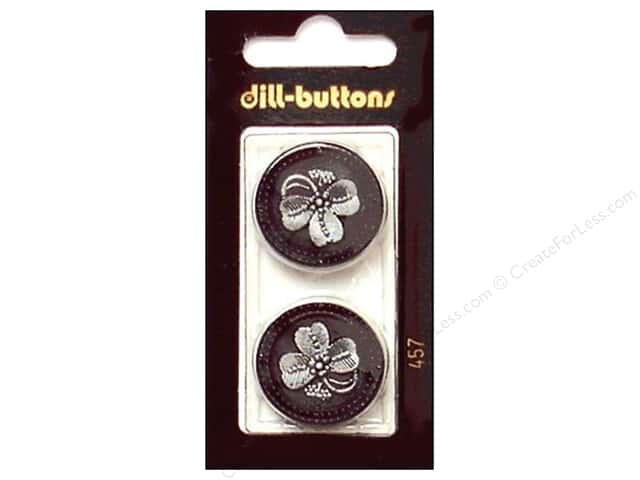 Dill Shank Buttons 1 in. Black #457 2pc.