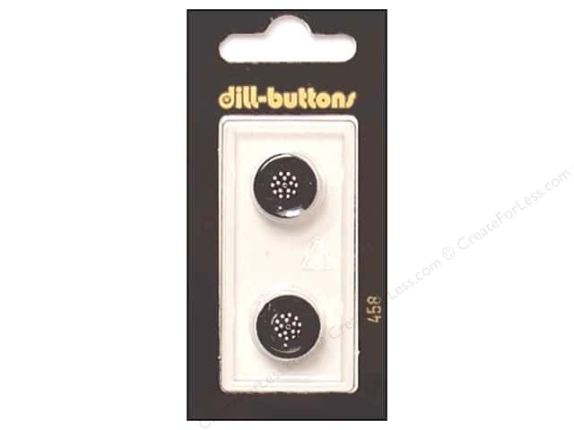 Dill Shank Buttons 9/16 in. Black #458 2pc.