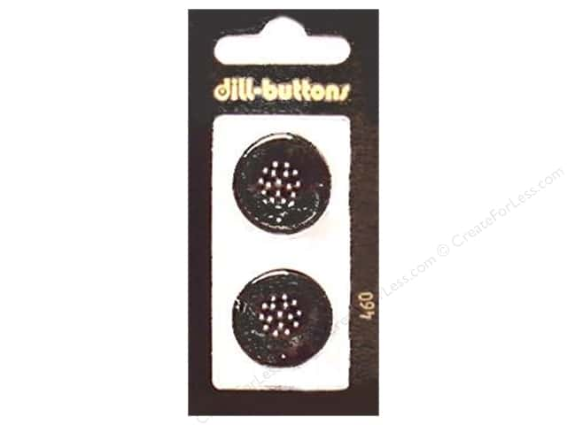 Dill Shank Buttons 7/8 in. Black #460 2pc.