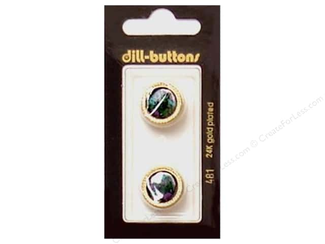 Dill Shank Buttons 11/16 in. Gold #481 2pc.
