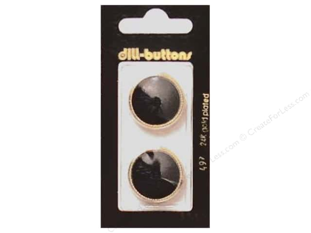 Dill Shank Buttons 7/8 in. Black #497 2pc.
