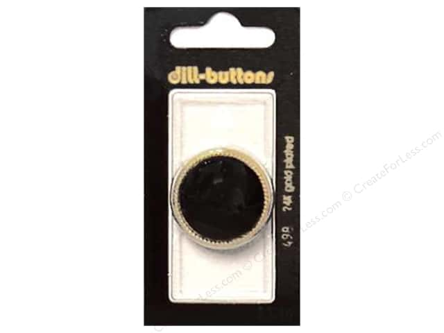 Dill Shank Buttons 1 1/8 in. Black #498 1pc.