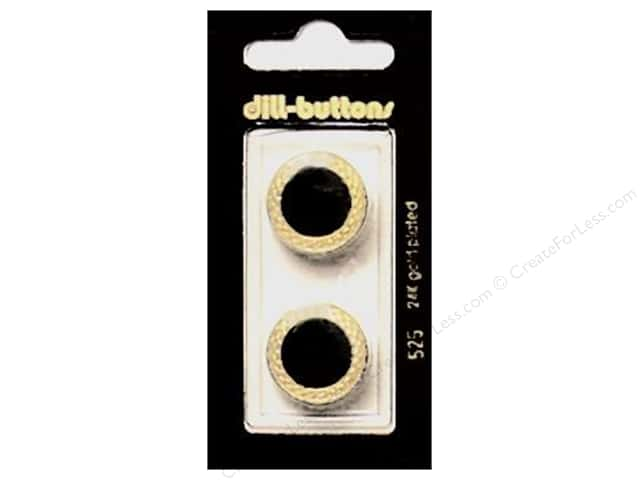 Dill Shank Buttons 13/16 in. Enamel Black #525 2pc.