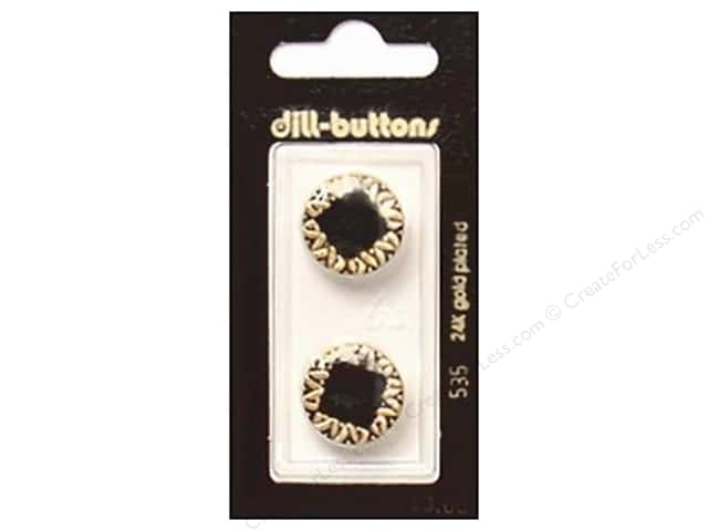 Dill Shank Buttons 11/16 in. Enamel Black #535 2 pc.