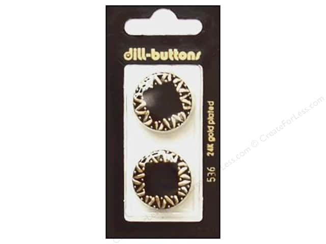 Dill Shank Buttons 7/8 in. Enamel Black #536 2pc.