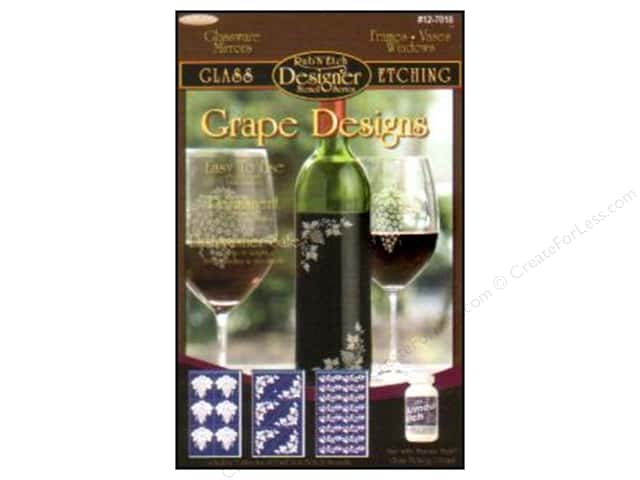 Armour Rub 'n' Etch Grape Designs Set