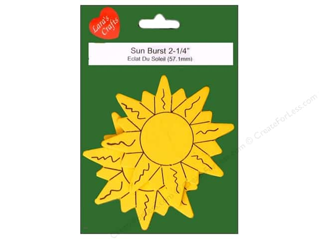 Lara's Wood Painted Sun Burst 2 1/4 in. 2pc.