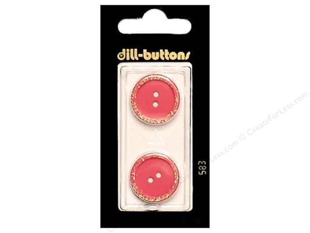 Dill 2 Hole Buttons 13/16 in. Pink #583 2pc.