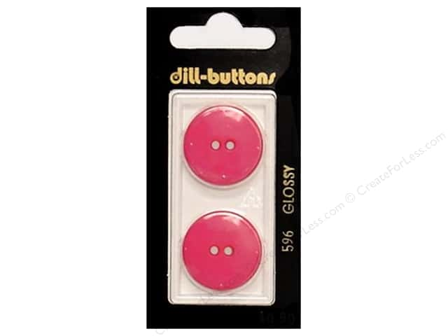 Dill 2 Hole Buttons 7/8 in. Pink #596 2 pc.