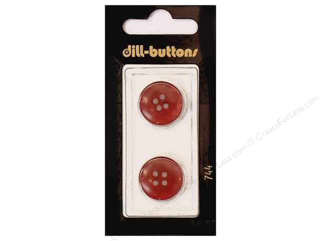 Dill 4 Hole Buttons 11/16 in. Wine Red #744 2pc.