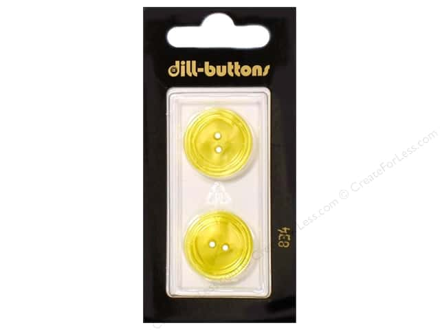 Dill 2 Hole Buttons 13/16 in. Yellow #834 2pc.