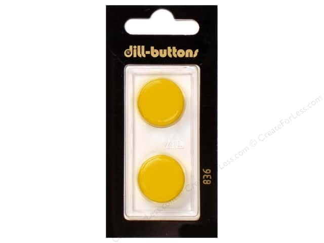 Dill Shank Buttons 3/4 in. Yellow #836 2pc.