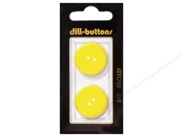 Dill 2 Hole Buttons 7/8 in. Yellow #840 2pc.