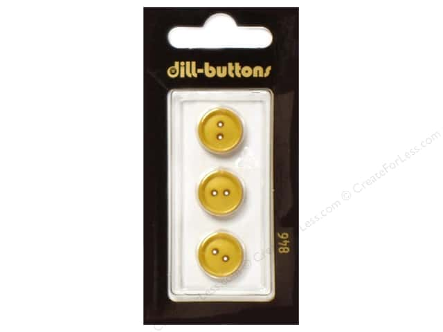 Dill 2 Hole Buttons 11/16 in.Yellow #846 pc.