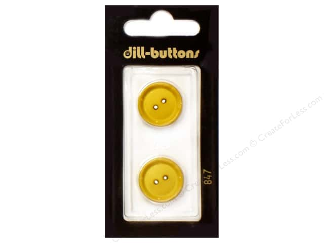 Dill 2 Hole Buttons 1/2 in. Yellow #847 3pc.