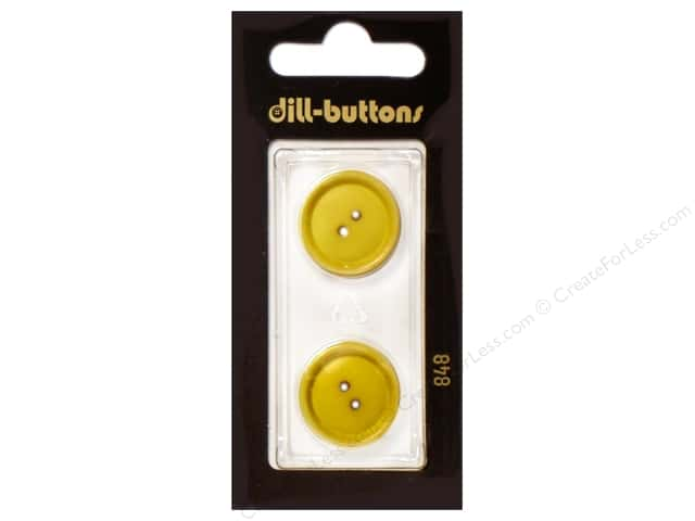 Dill 2 Hole Buttons 13/16 in. Yellow #848 2pc.