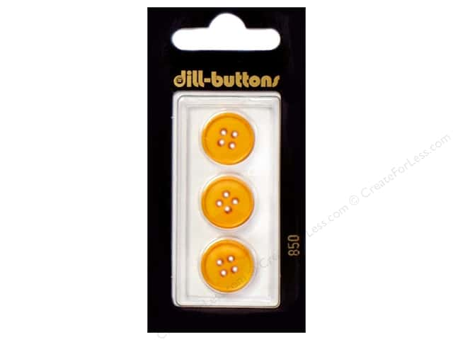 Dill 4 Hole Buttons 5/8 in. Yellow #850 3pc.