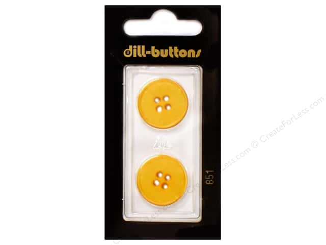 Dill 4 Hole Buttons 13/16 in. Yellow #851 2pc.