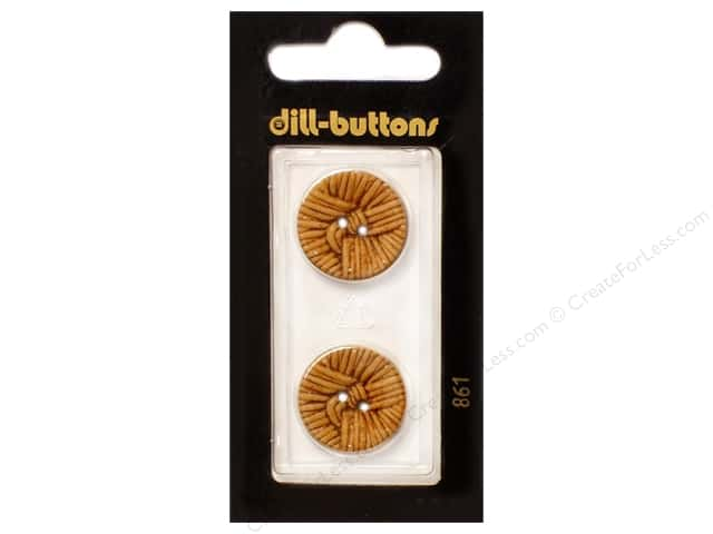 Dill 2 Hole Buttons 13/16 in. Brown #861 2 pc.