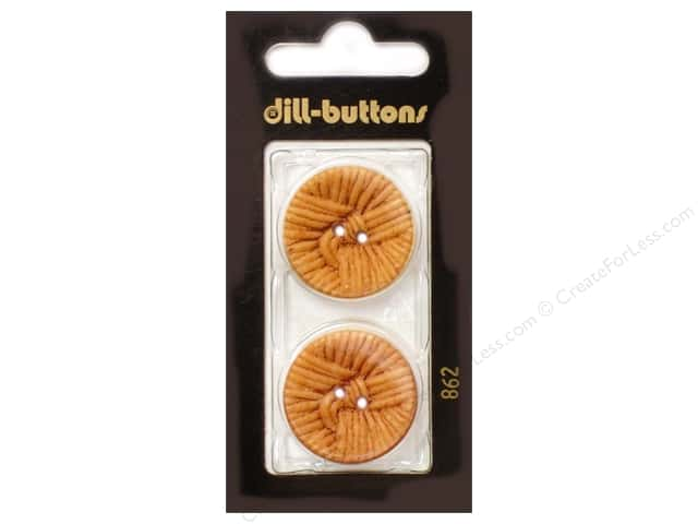 Dill 2 Hole Buttons 1 in. Brown #862 2pc.