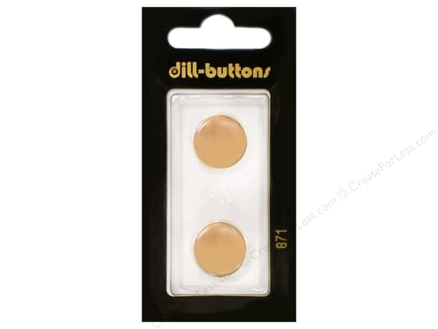 Dill Shank Buttons 5/8 in. Orange #871 2pc.