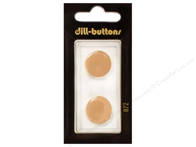 Dill Shank Buttons 11/16 in. Orange #872 2pc.