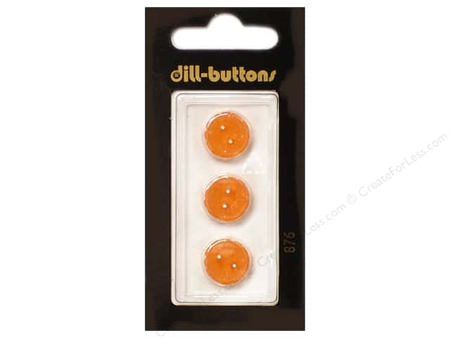 Dill 2 Hole Buttons 1/2 in. Orange #876 3pc.