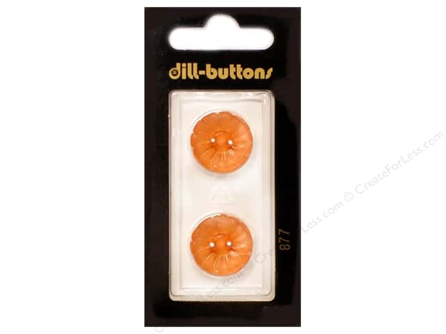 Dill 2 Hole Buttons 11/16 in. Orange #877 2pc.