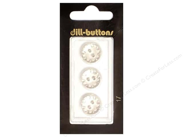 Dill Shank Buttons 9/16 in. Transparent #17 3pc.
