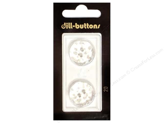 Dill Shank Buttons 13/16 in. Transparent #20 2pc.