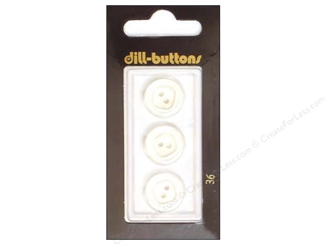 Dill 2 Hole Buttons 5/8 in. White #36 3pc.