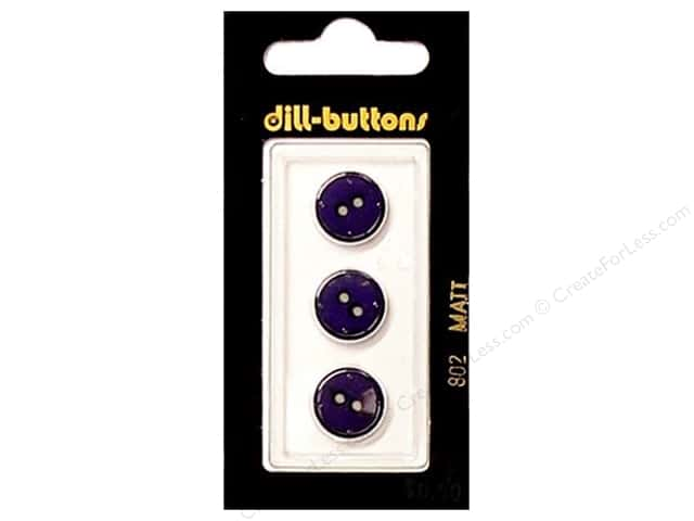Dill 2 Hole Buttons 1/2 in. Purple #802 3 pc.