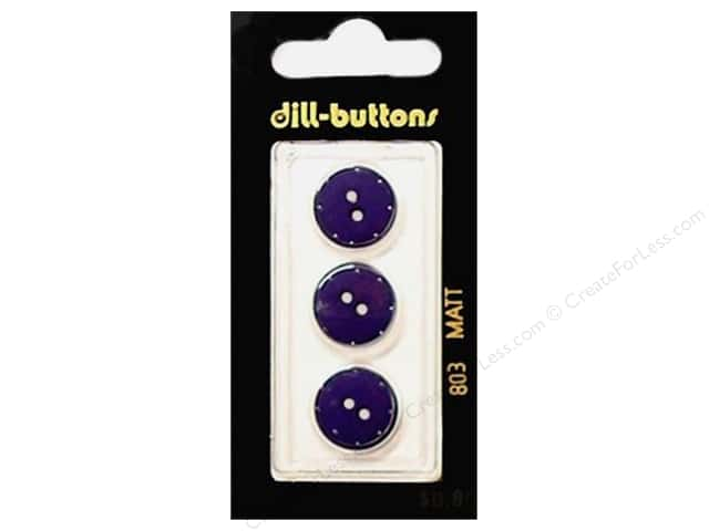 Dill 2 Hole Buttons 5/8 in. Navy #803 3pc.