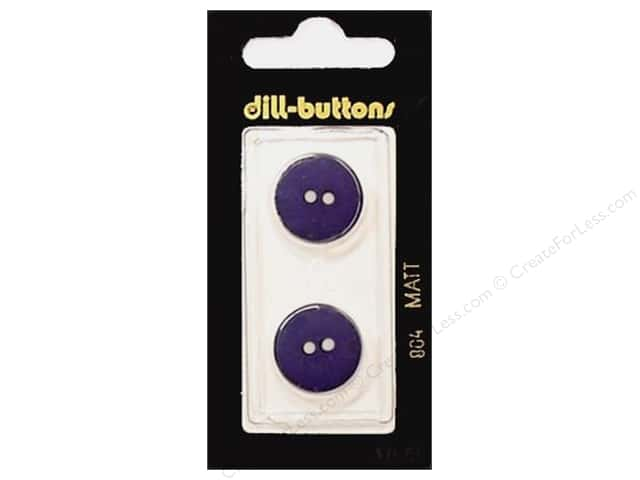 Dill 2 Hole Buttons 11/16 in. Purple #804 2pc.
