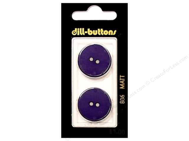 Dill 2 Hole Buttons 7/8 in. Purple #806 2pc.